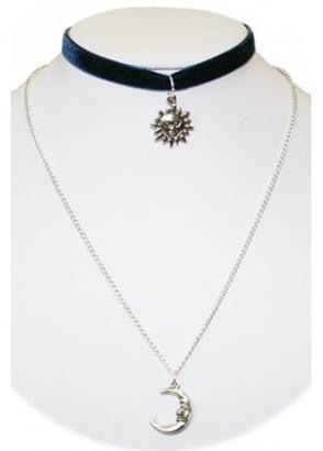 Sun & Moon Choker Necklace