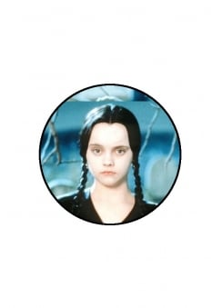 Wednesday Addams Button Badge