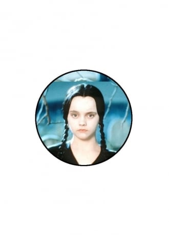 Extreme Largeness Wednesday Addams Button Badge