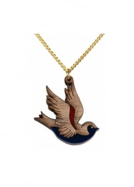 Wooden Swallow Necklace
