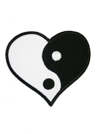 Extreme Largeness Yin Yang Heart Patch