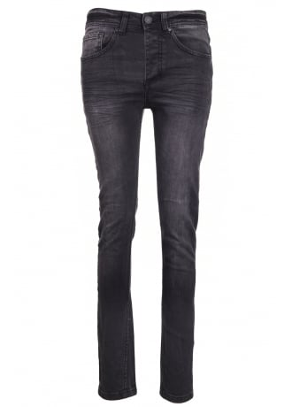 Faded Black Denim Skinny Jeans