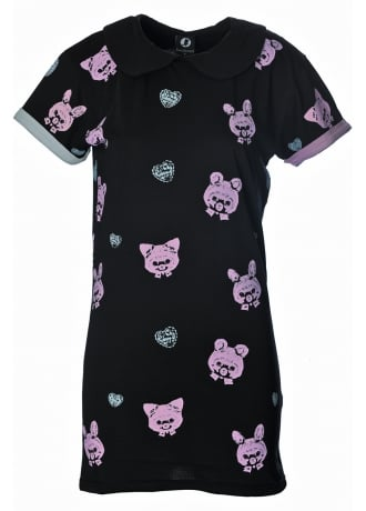 Fearless Illustration Candied Playtime T-Shirt Dress