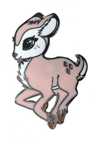 Fearless Illustration Faline Pin Badge