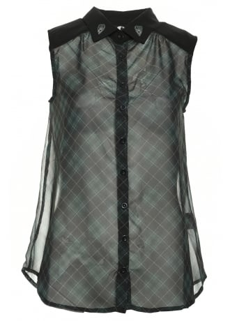 Fearless Illustration Jaded Chiffon Shirt