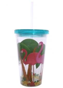 Flamingo Straw Cup