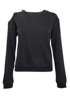 Fleece Cut Out Sweatshirt