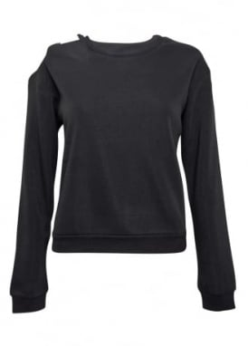 Fleece Cut Out Sweatshirt