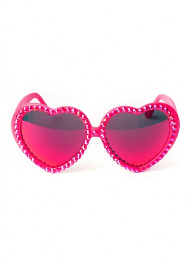 Gasoline Glamour Baby's On Fire Lolita Heart Sunglasses
