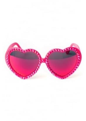 Baby's On Fire Lolita Heart Sunglasses