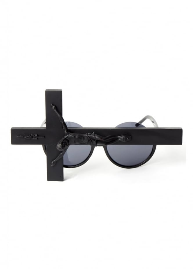 Gasoline Glamour Judas Peekaboo Crucifix Sunglasses