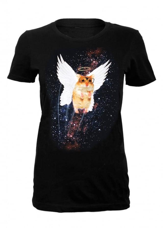 Goodie Two Sleeves Cosmic Angel Hamster T-Shirt