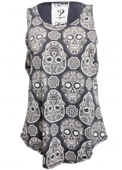 Grey Day of the Dead Vest