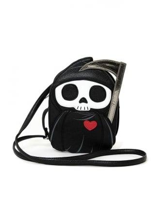 Grim Reaper With A Heart Shoulder Bag
