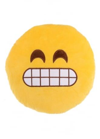 Grin Emoji Plush Cushion