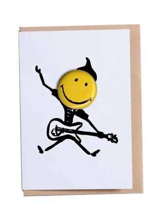 Guitarist Happy Days Greetings Card