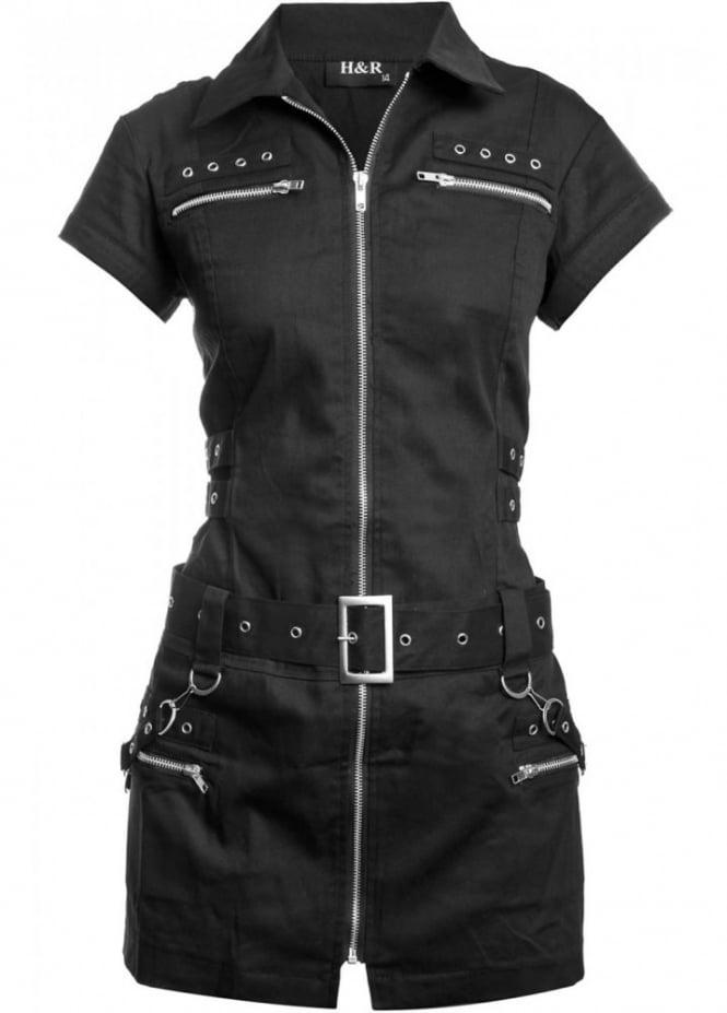 H&R London Biker Shirt Dress