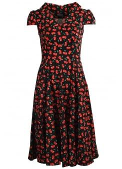 Black Cherry Blossom Dress