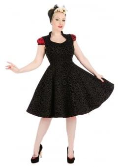 Black Leopard Flocked Felina Dress