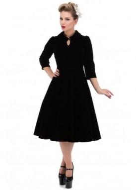 Black Velvet Tea Dress