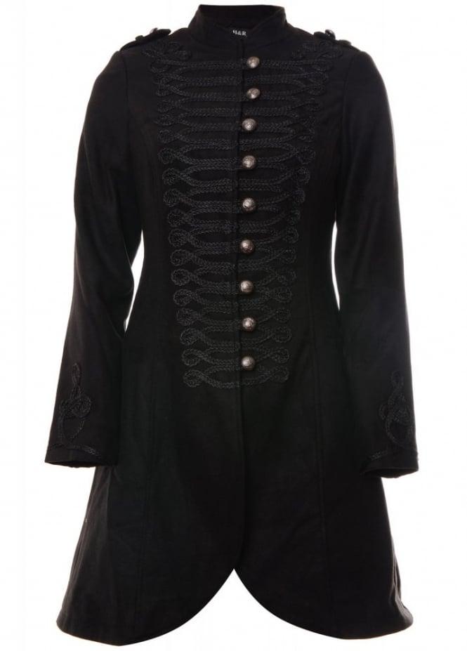 H&R London Military Wool Coat