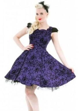 Nautical Flocked Dress