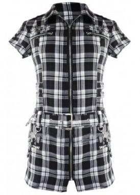 Tartan Biker Shirt Dress