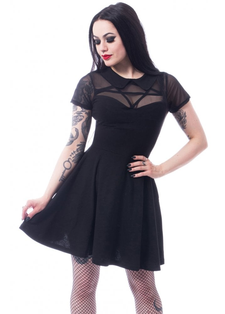 81b3c23264a Heartless Hex Wednesday Gothic Dress