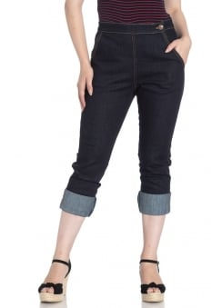 Charlie Retro Denim Capris