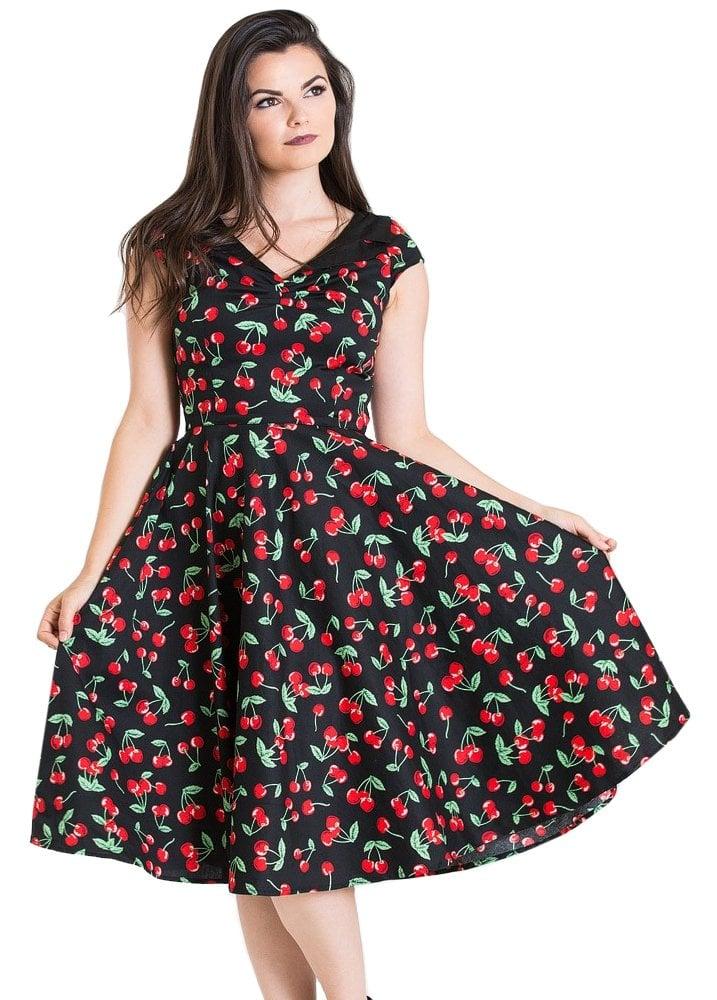 ba5aaec669 Hell Bunny Cherry Pop 50s Dress | Attitude Clothing