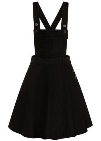 Hell Bunny Dakota Pinafore Plus Size Dress Attitude Clothing