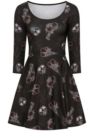 Hell Bunny Dark Valentine Gothic Dress