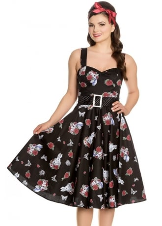 Hell Bunny Drink Me Retro 50s Dress