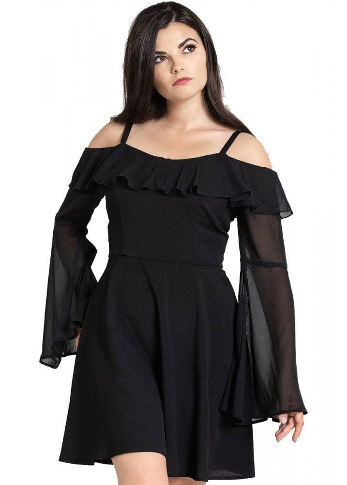 4e140f25d2628 Hell Bunny Evanora Gothic Dress