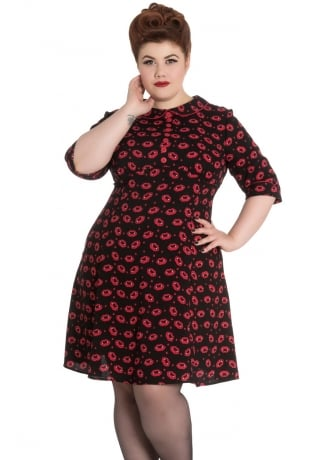 Hell Bunny Kiss Me Deadly Plus Dress