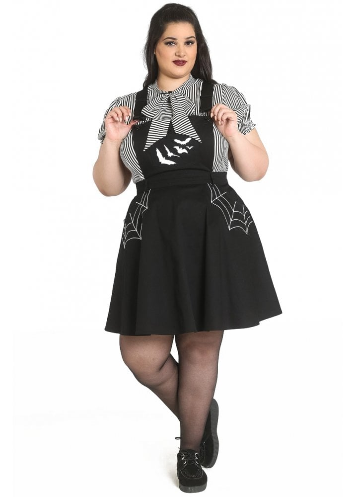 new specials detailing top quality Miss Muffet Plus Size Pinafore Dress