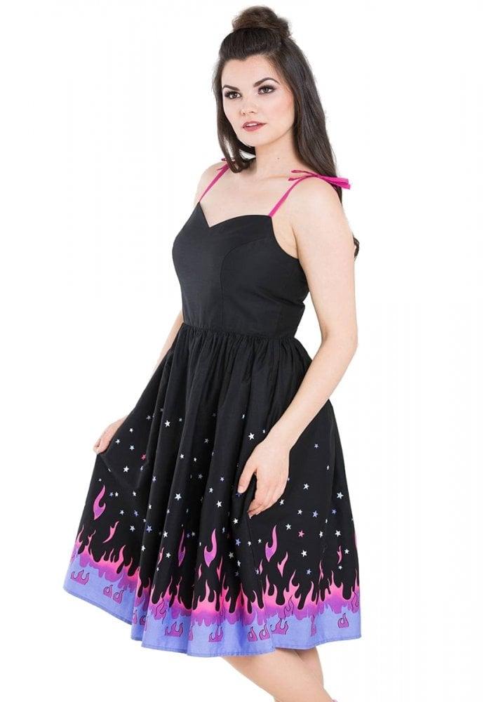1895bc3029 Hell Bunny Pinball 50s Dress | Attitude Clothing