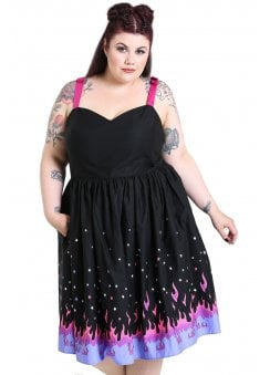 d4664093337 Pinball 50s Plus Size Dress. Hell Bunny ...