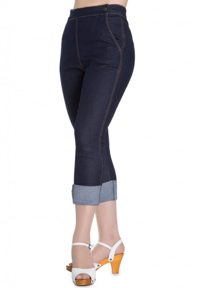 Hell Bunny Ronnie Denim Capris