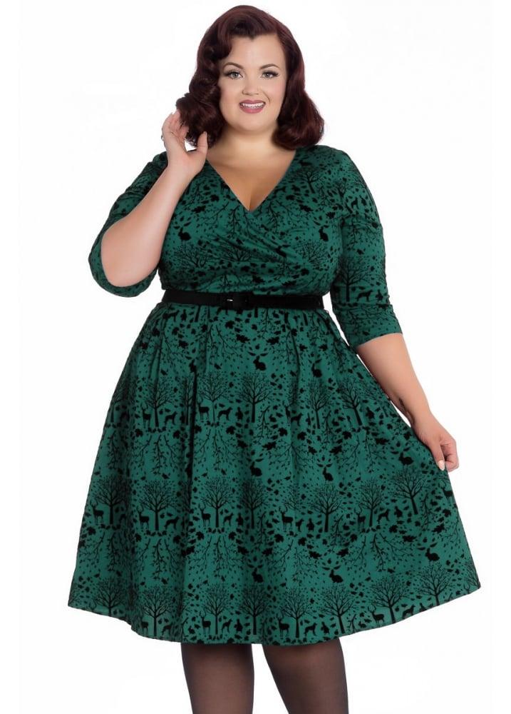 Hell Bunny Sherwood 50s Plus Size Dress Attitude Clothing