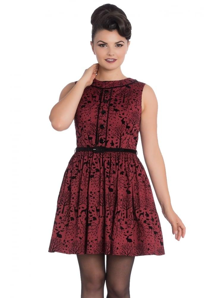 092be58f4a Hell Bunny Sherwood Retro Mini Dress