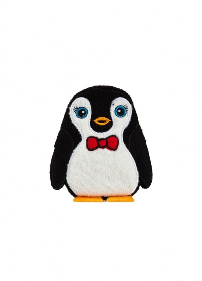 Hot Chick Bow Tie Penguin Hand Warmer