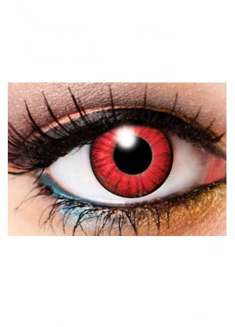 Innovision Lens One Day Electro Red Cosmetic Lenses