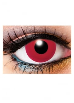 One Day Solid Red Cosmetic Lenses