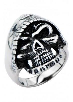 Hooded Skull Ring