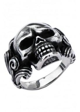 Oxidised Skull Ring