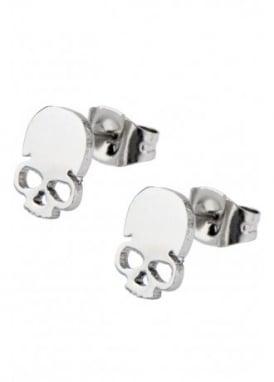 Skull Cut Out Stud Earrings