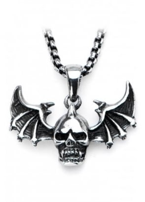Skull & Wings Necklace