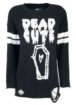 Dead Cute Torn Sweater