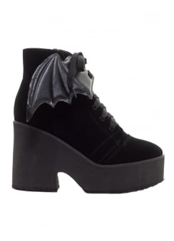Velvet Bat Wing Boot